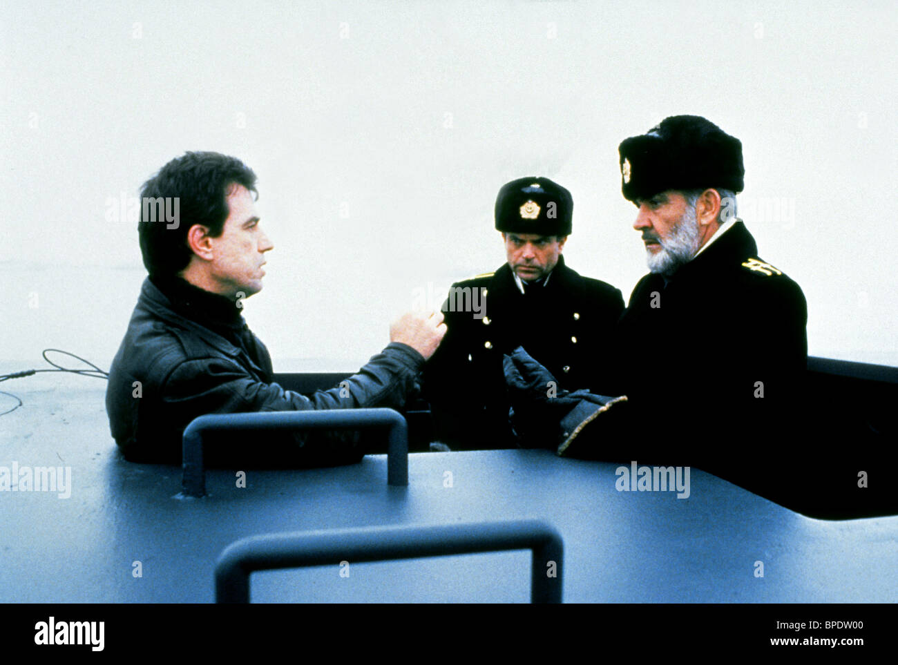 John Mctiernan Sam Neill Sean Connery The Hunt For Red October Stock Photo Alamy