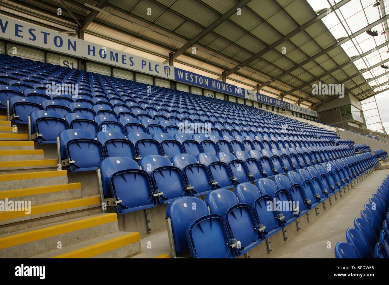 Stadium fold up seating at the Weston Homes Community Stadium in ...