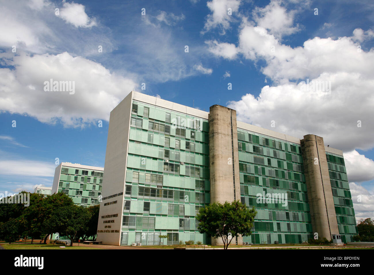 Esplanada dos Ministerios or the Ministries Avenue, Brasilia, Brazil. - Stock Image