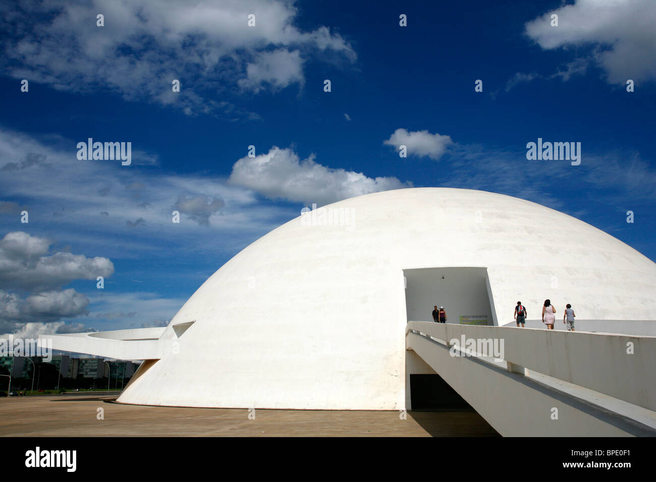 Museo Nacional or the National Museum, designed by Oscar Niemeyer, Brasilia, Brazil. - Stock Image