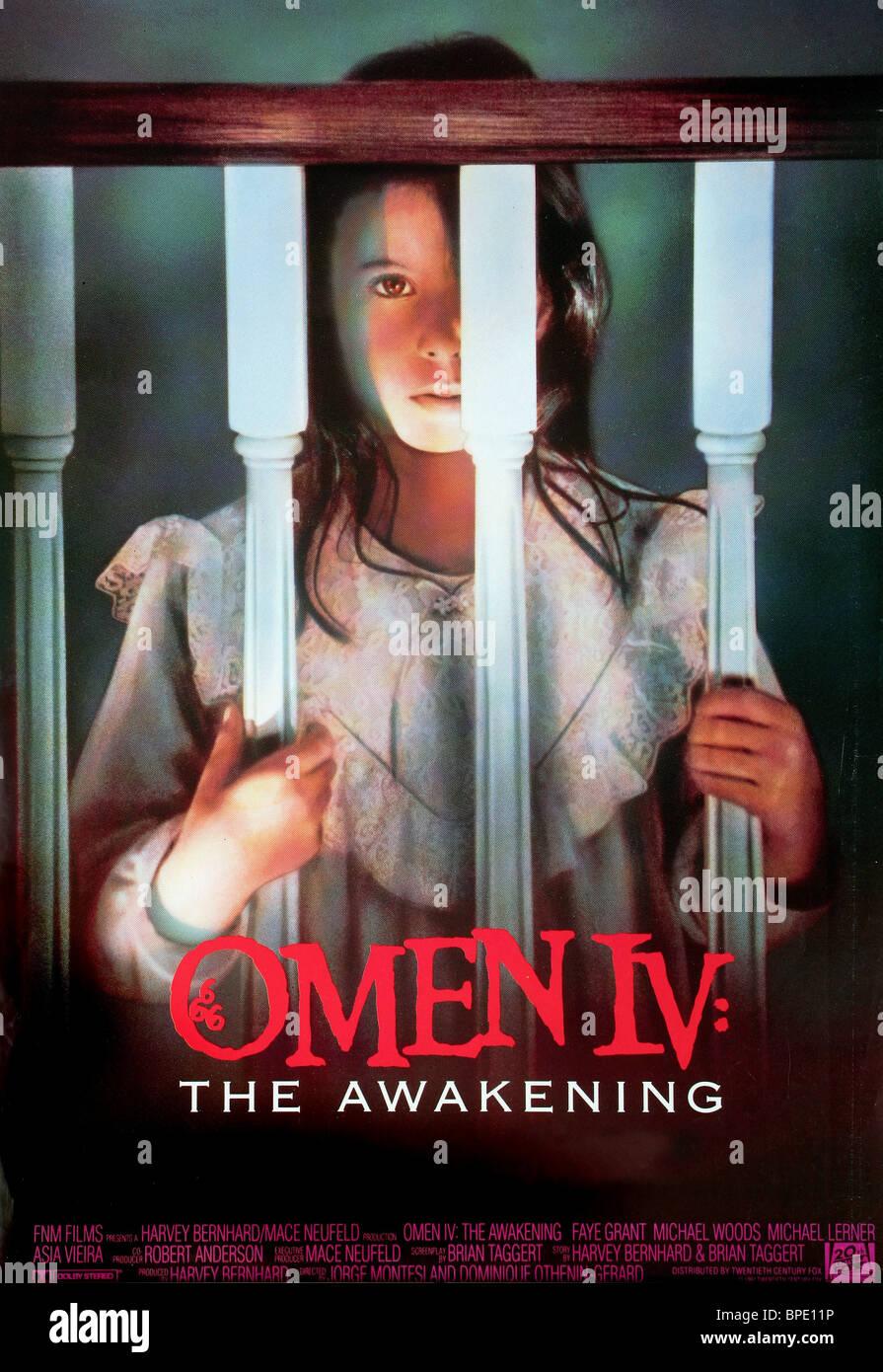 ASIA VIEIRA POSTER OMEN IV: THE AWAKENING (1991) - Stock Image