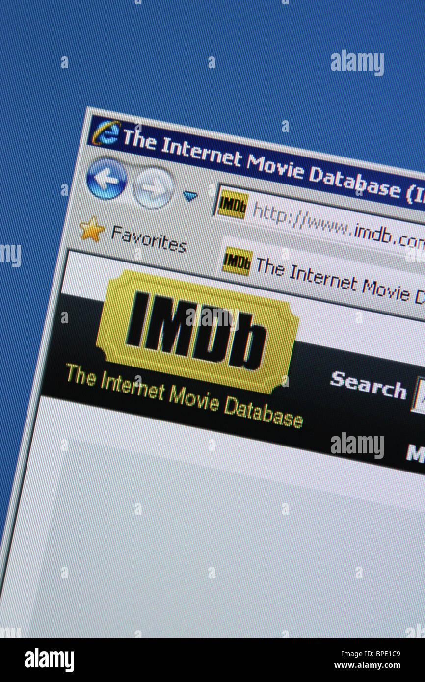 IMDB Internet Movie Database online website Stock Photo