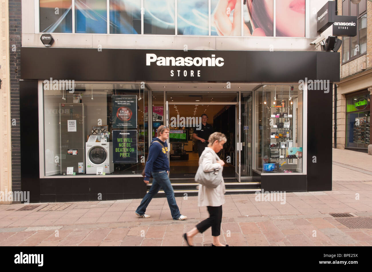 The Panasonic shop store in Norwich , Norfolk , England , Great Britain , Uk - Stock Image