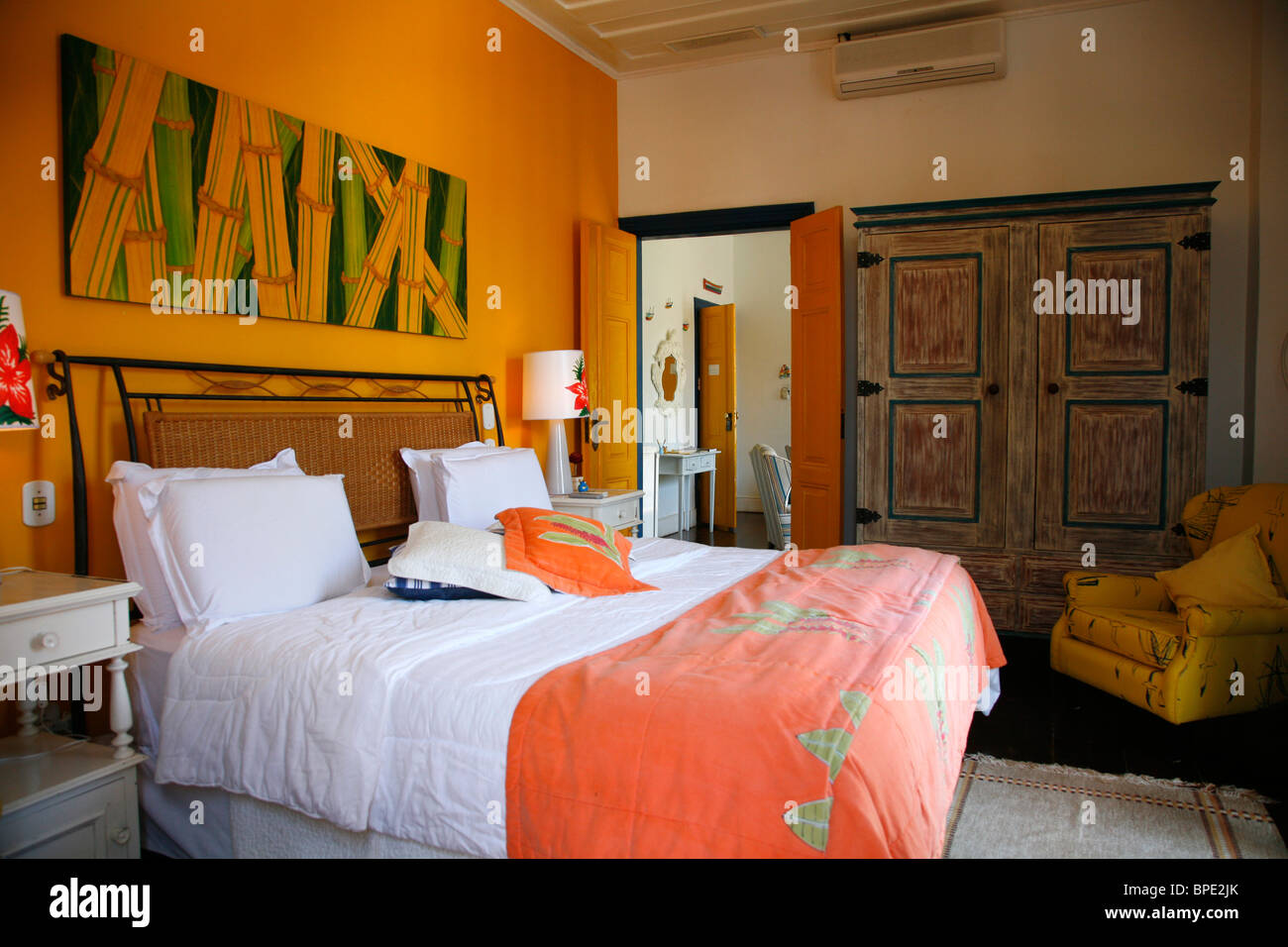 Pousada do Sandi, a luxury hotel in Parati, Rio de Janeiro State, Brazil. - Stock Image