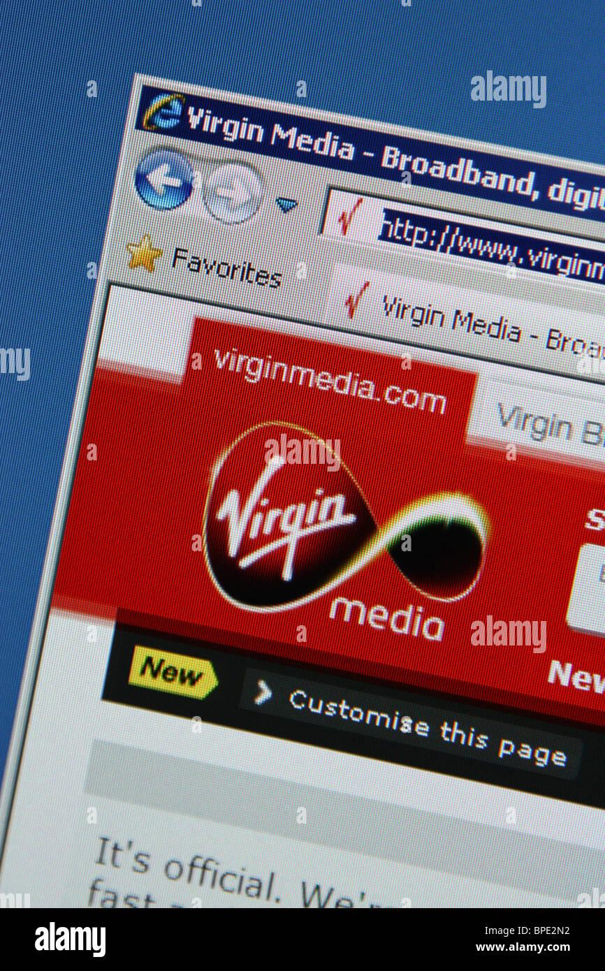 virgin media online website Stock Photo: 31042286 - Alamy