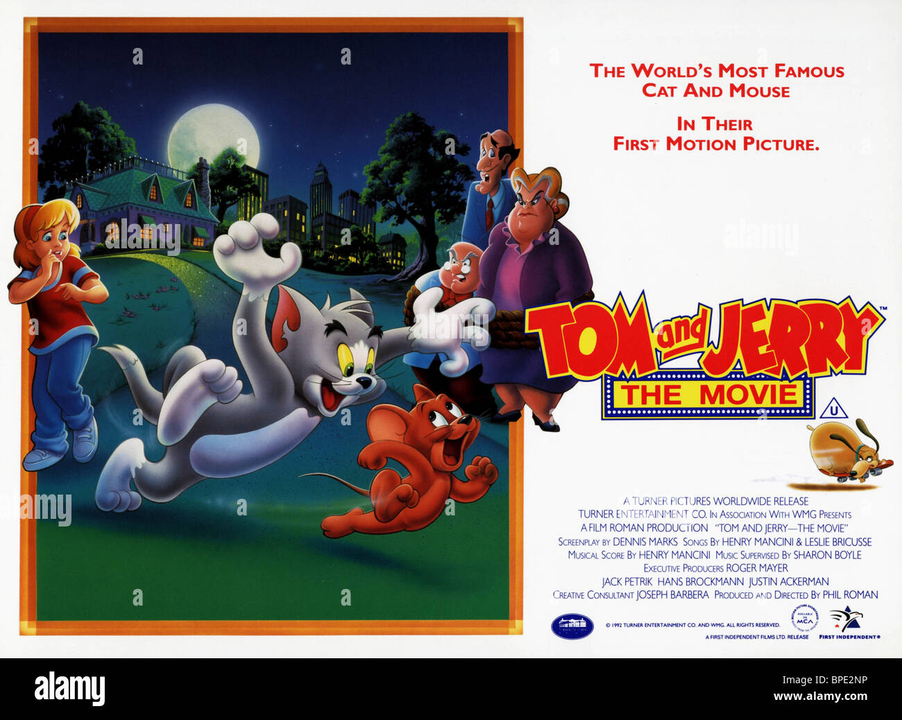 TOM THE CAT & JERRY THE MOUSE TOM & JERRY : THE MOVIE (1992)