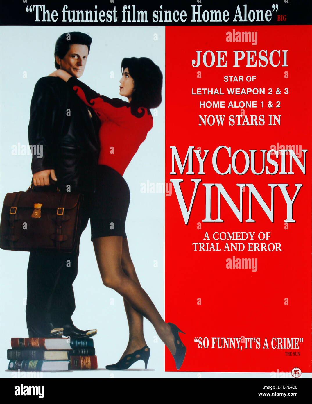JOE PESCI, MARISA TOMEI POSTER, MY COUSIN VINNY, 1992 - Stock Image