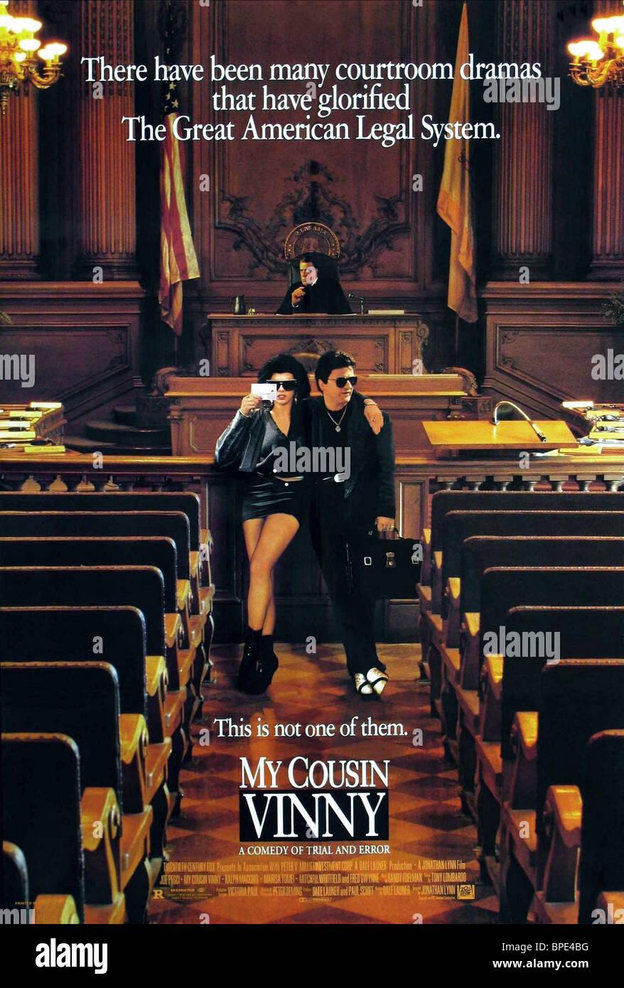MARISA TOMEI, JOE PESCI POSTER, MY COUSIN VINNY, 1992 - Stock Image