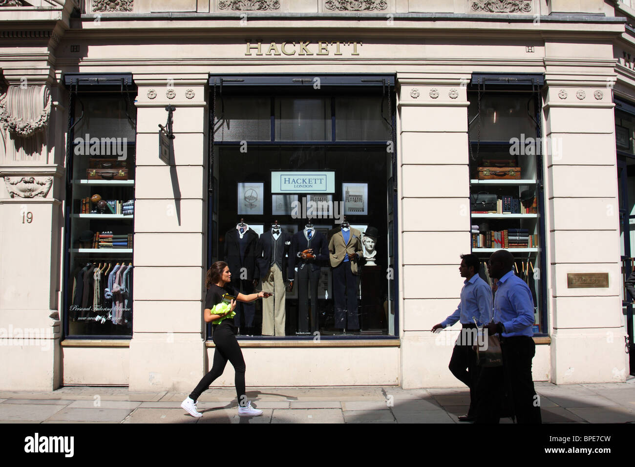 A Hackett designer clothing store in the City of London. - Stock Image