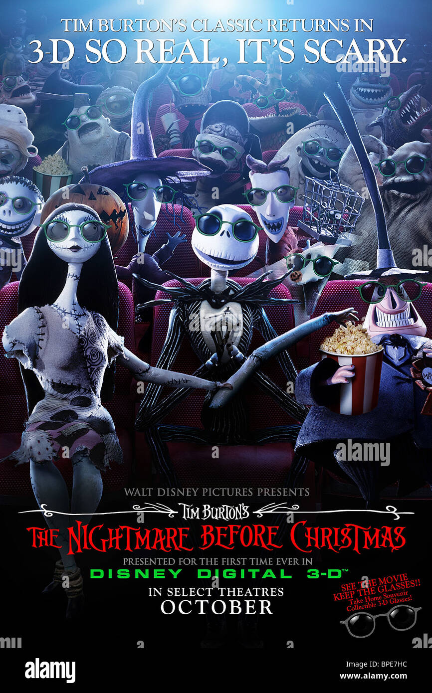 SALLY SHOCK & JACK SKELLINGTON POSTER THE NIGHTMARE BEFORE CHRISTMAS ...