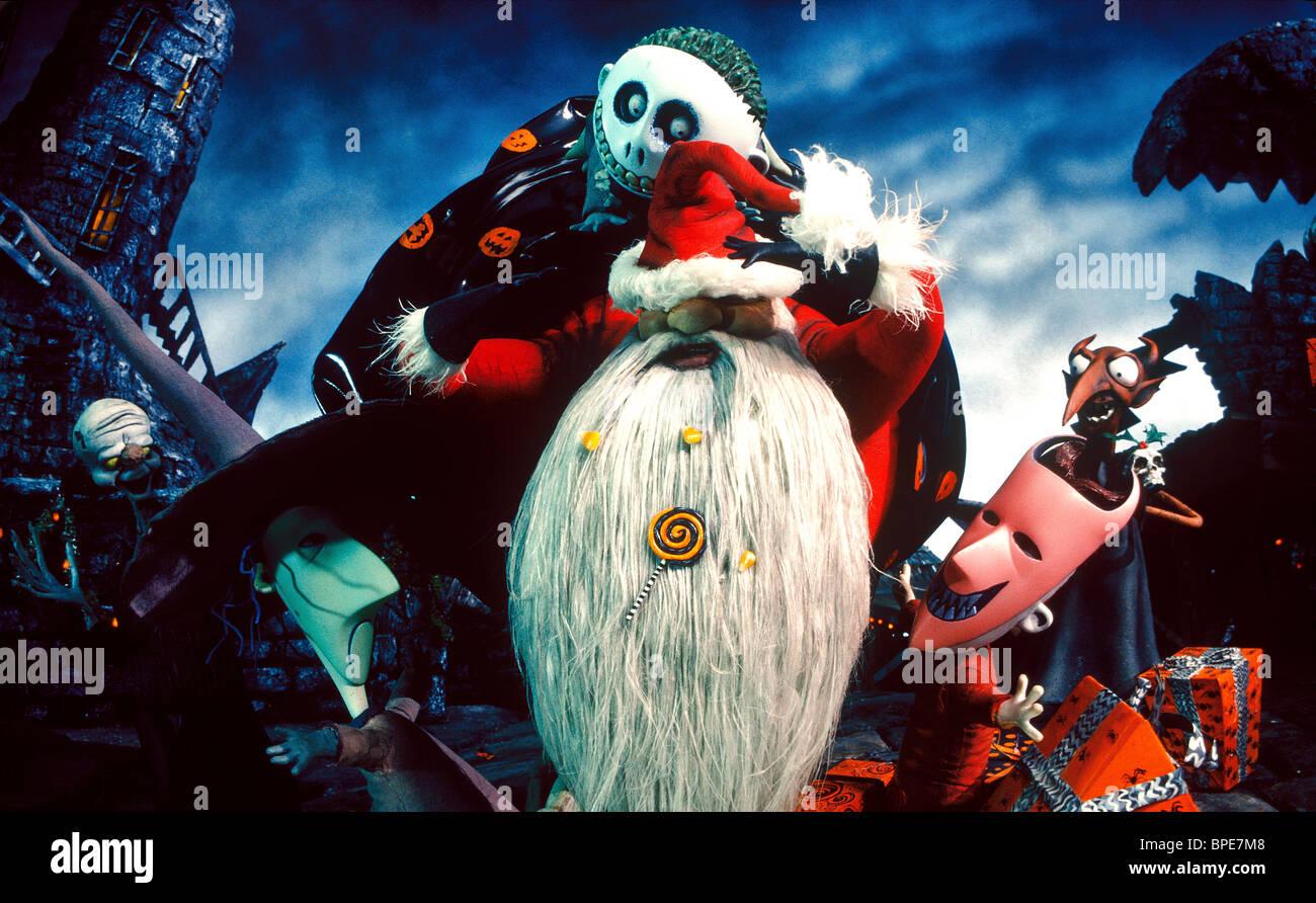 LOCK SHOCK SANTA & BARREL THE NIGHTMARE BEFORE CHRISTMAS (1993 Stock ...