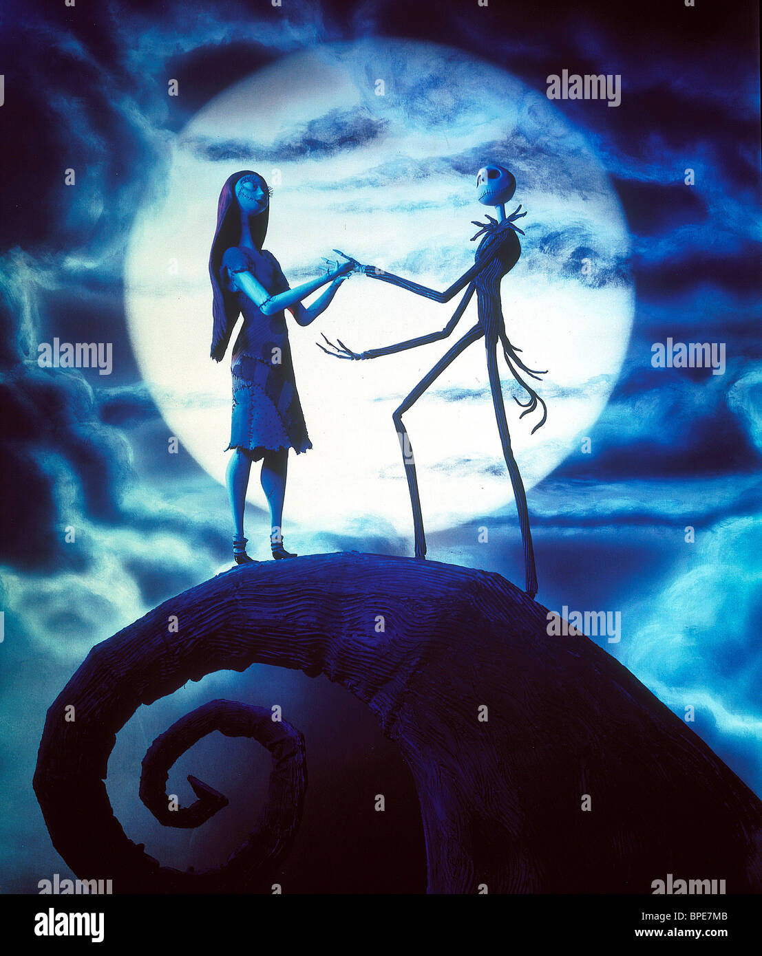 sally shock jack skellington the nightmare before christmas 1993 stock image - The Nightmare Before Christmas Jack And Sally