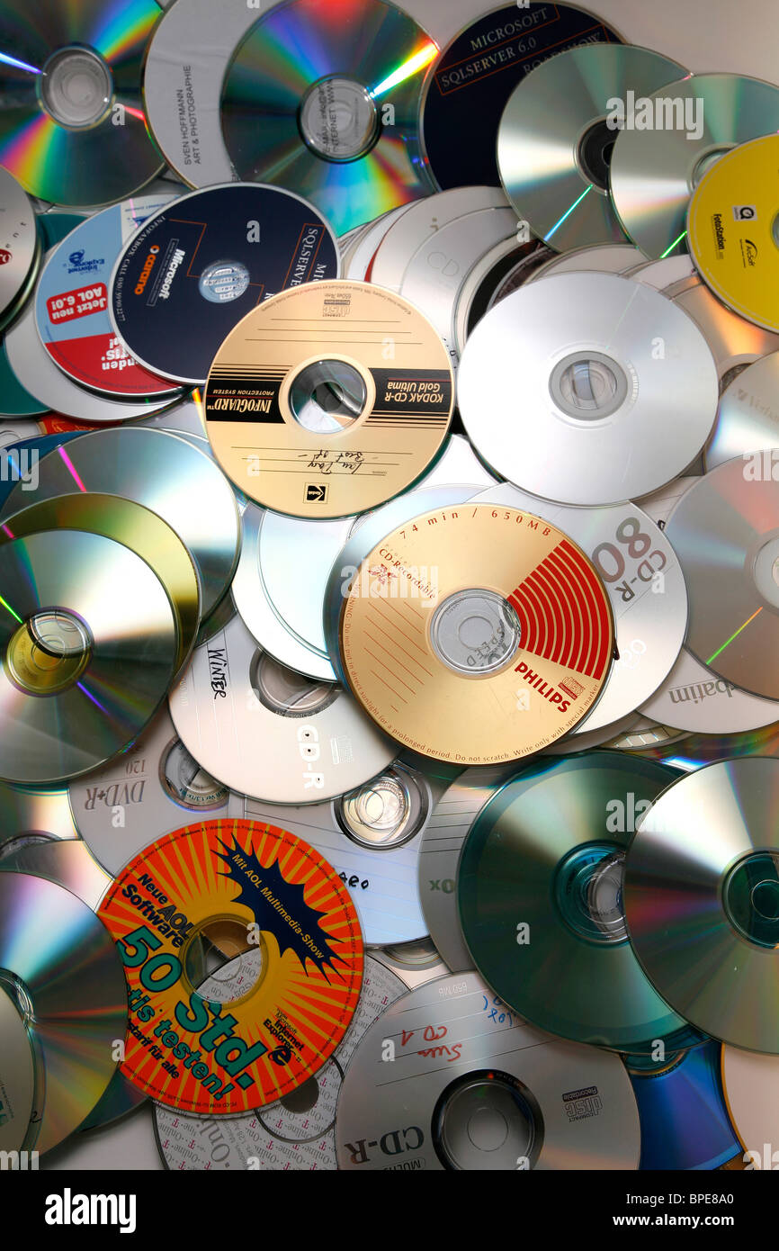 Heap of CDs - Stock Image