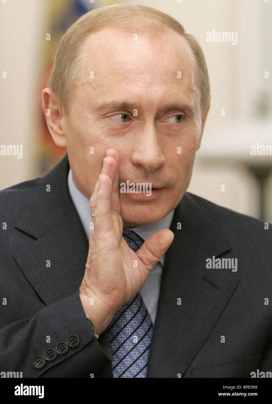 President Putin's interview with Time magazine - Stock Image