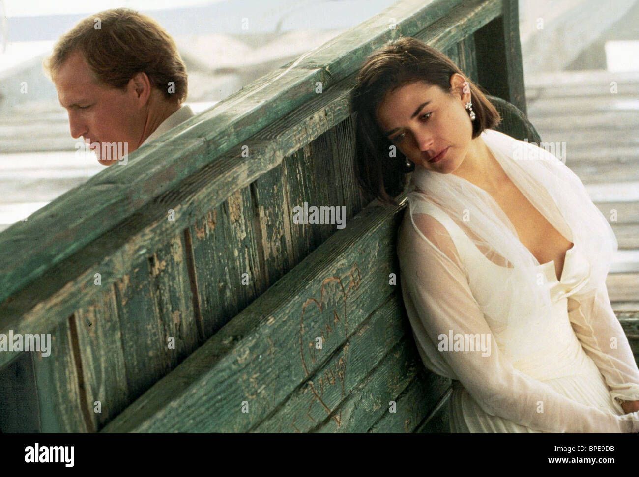 WOODY HARRELSON, DEMI MOORE, INDECENT PROPOSAL, 1993 - Stock Image