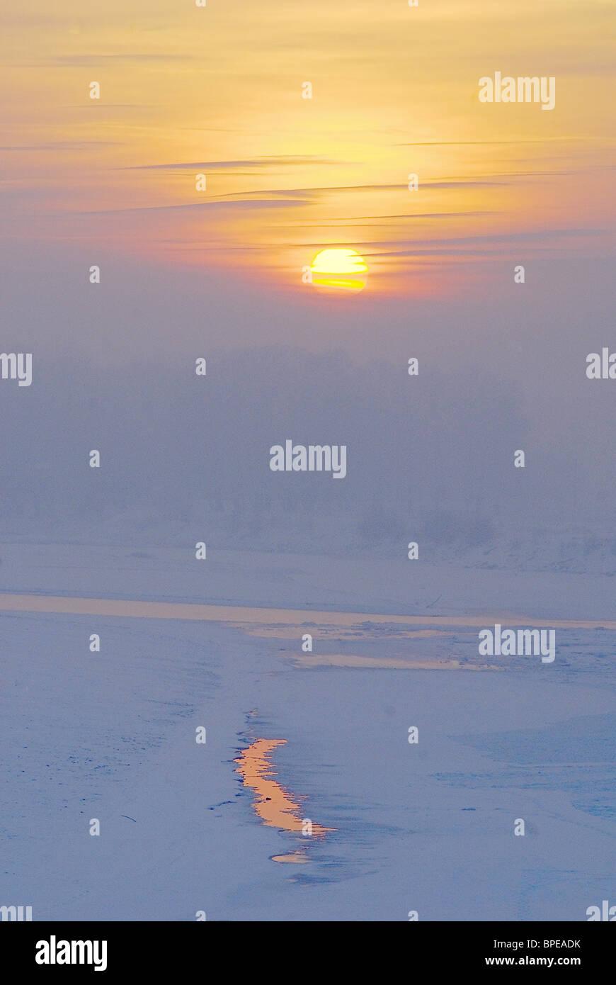 Winter landscapes - Stock Image