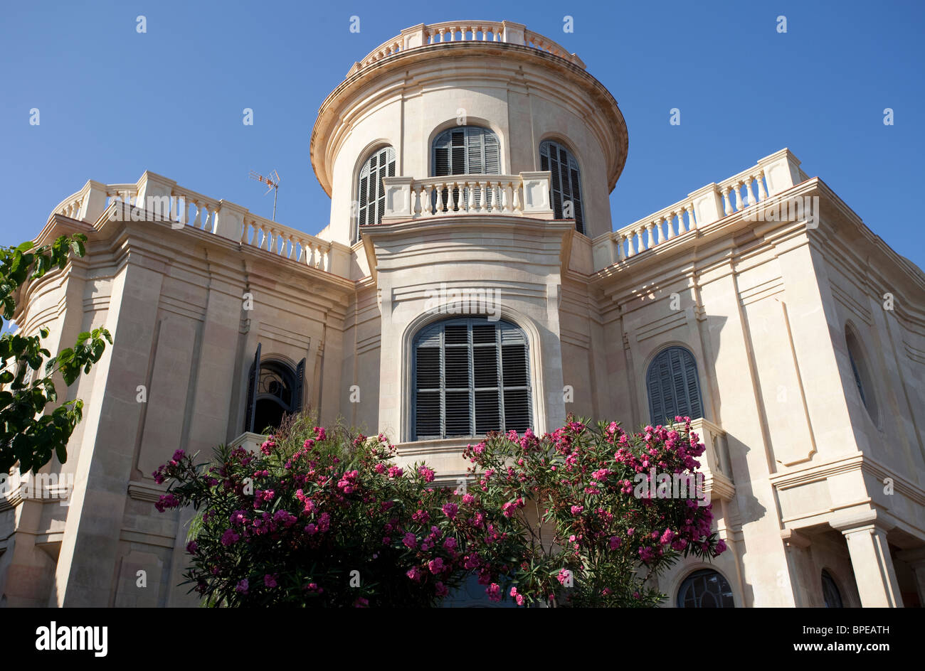 Barcelona Art nouveau architecture in Sant Pol de Mar, Spain - Stock Image