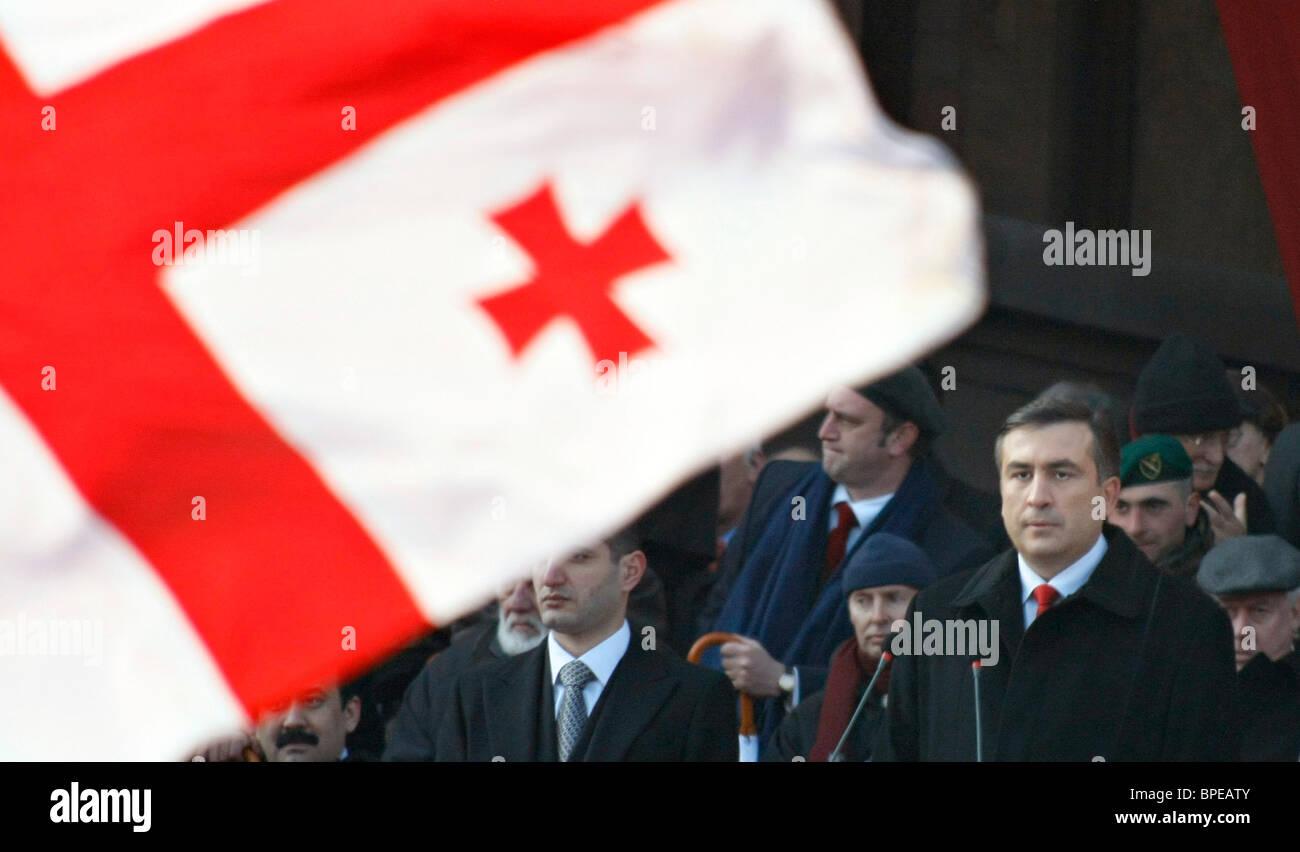 Georgian President Mikhail Saakashvili's inauguration ceremony held in Tbilisi - Stock Image