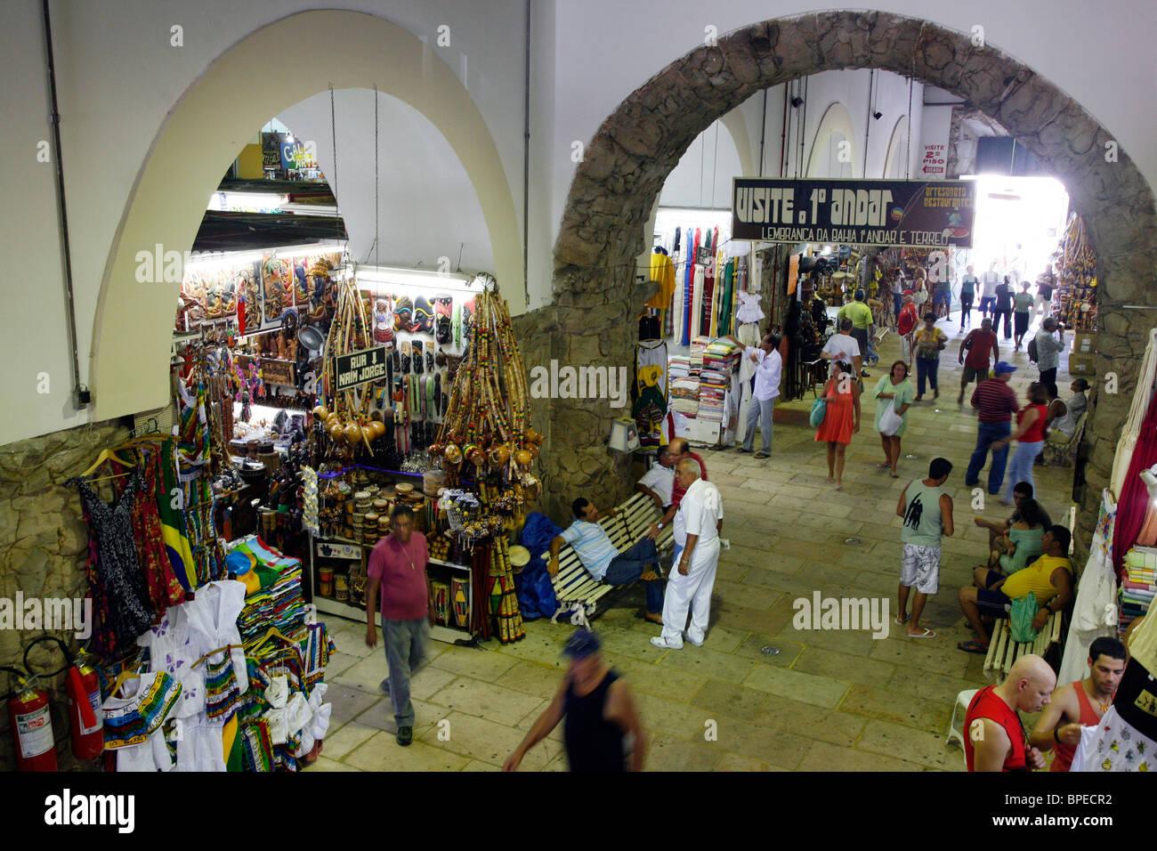 Mercado Modelo, Salvador, Bahia, Brazil. - Stock Image