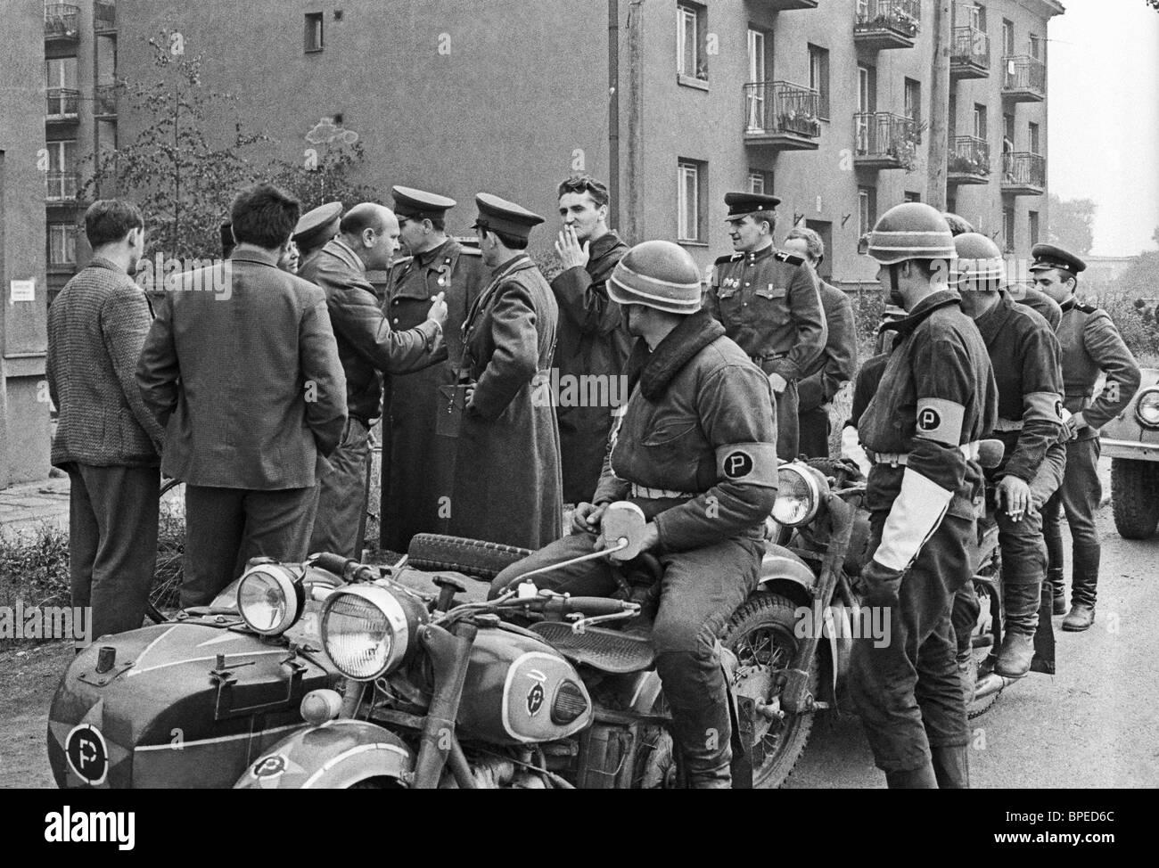 Prague Spring uprising of 1968 - Stock Image