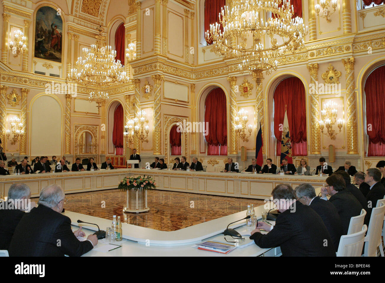Putin chairs meeting of Council for National Projects - Stock Image