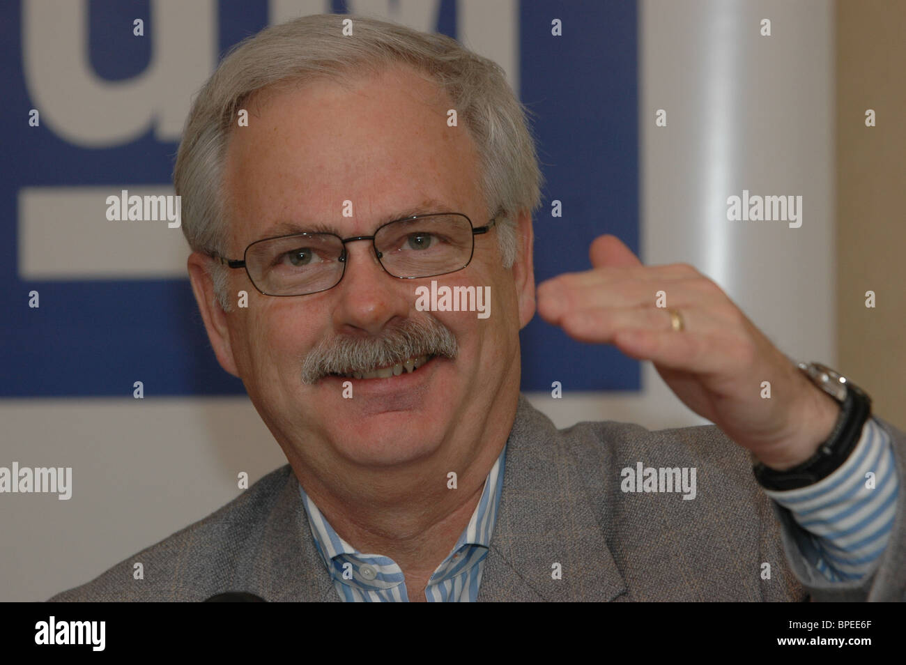 General Motors chiefs give news conference Stock Photo