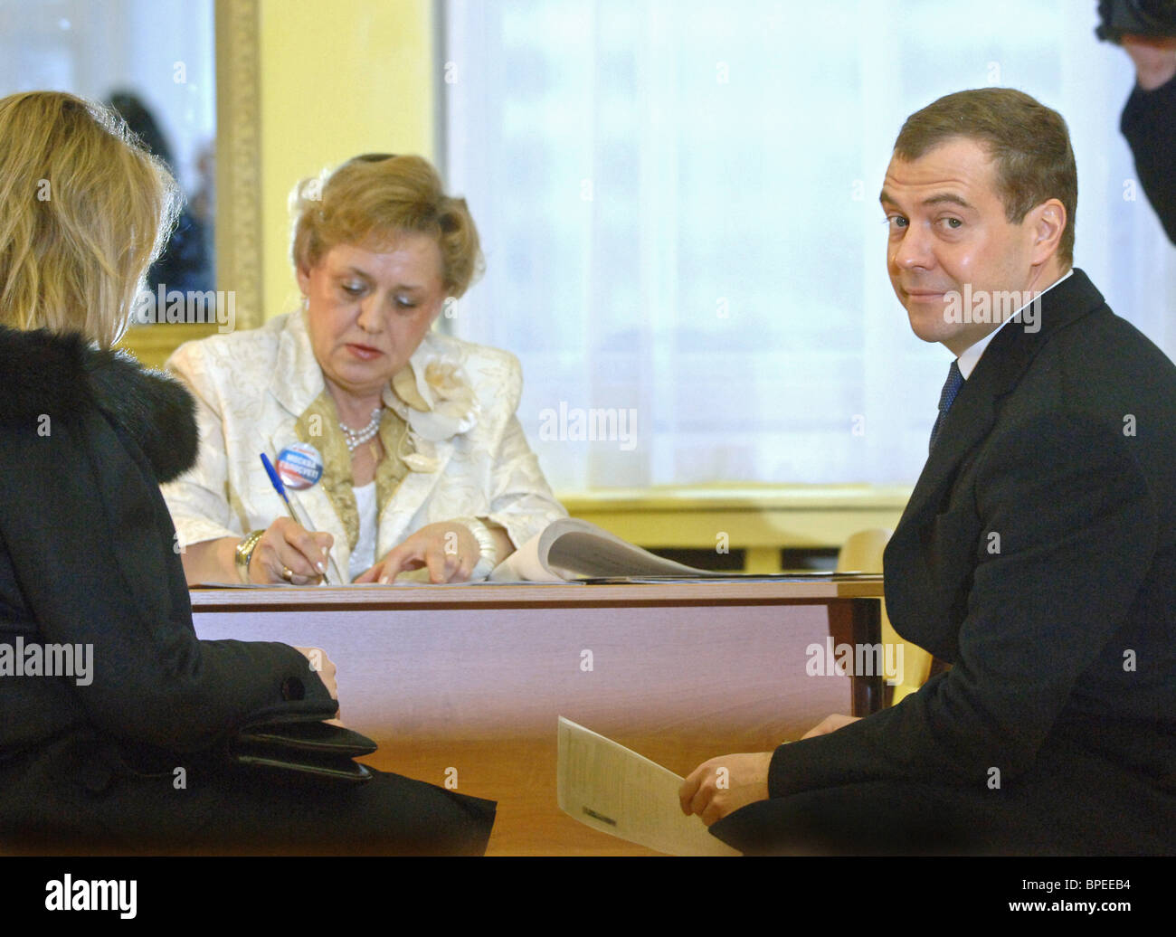 Moscow goes to the polls to choose a successor to President Vladimir Putin - Stock Image