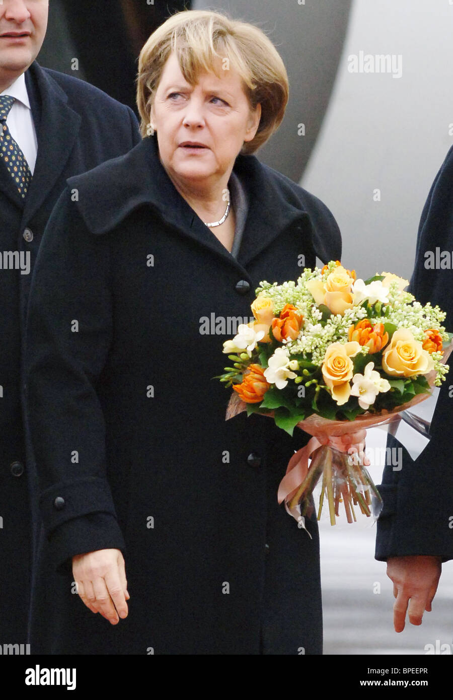 German Chancellor Angela Merkel visits Russia Stock Photo