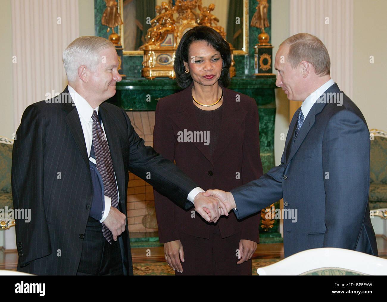 Vladimir Putin meets with senior US officials - Stock Image