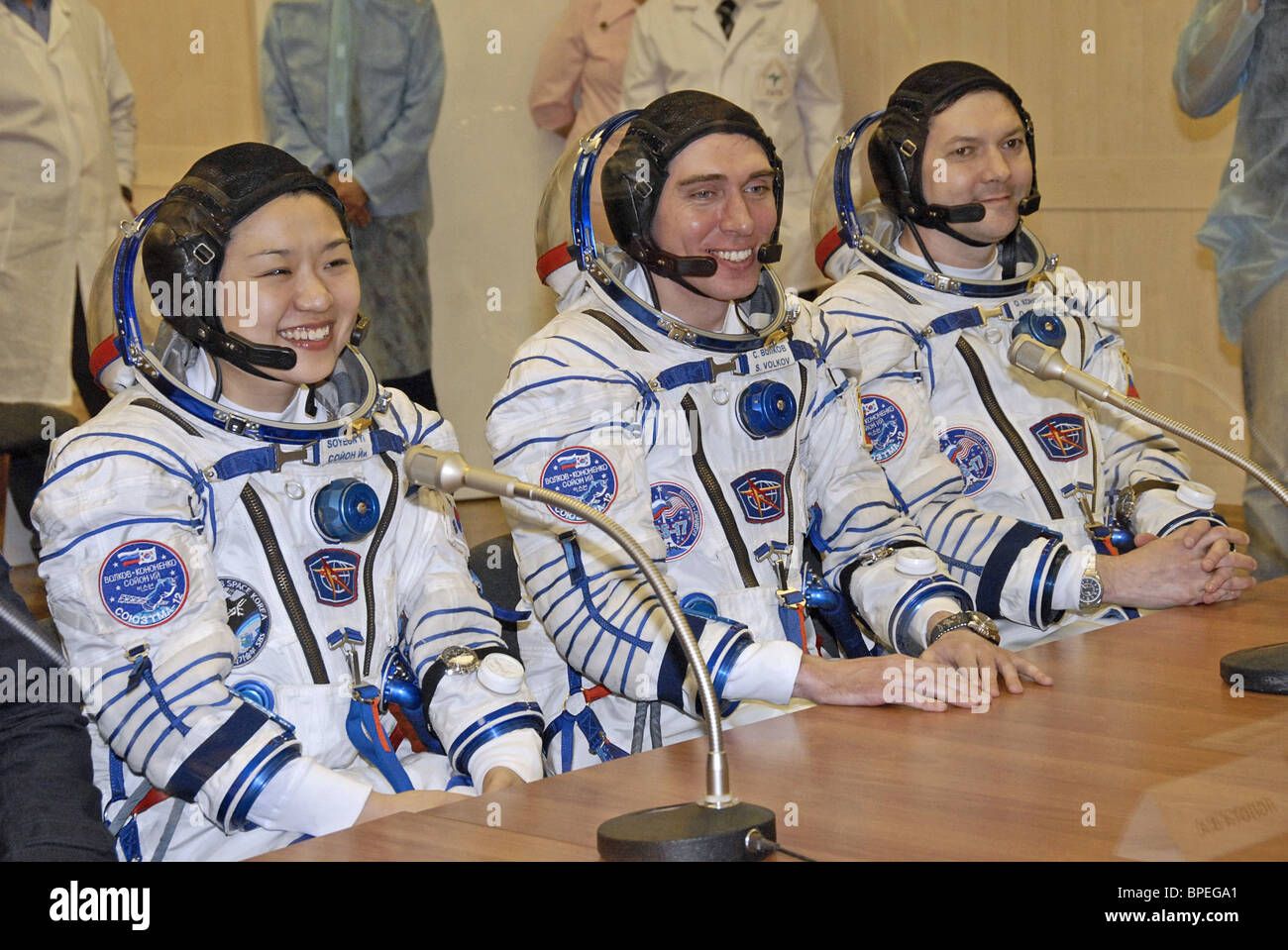 Expedition 17 crew launches from Baikonur Cosmodrome - Stock Image