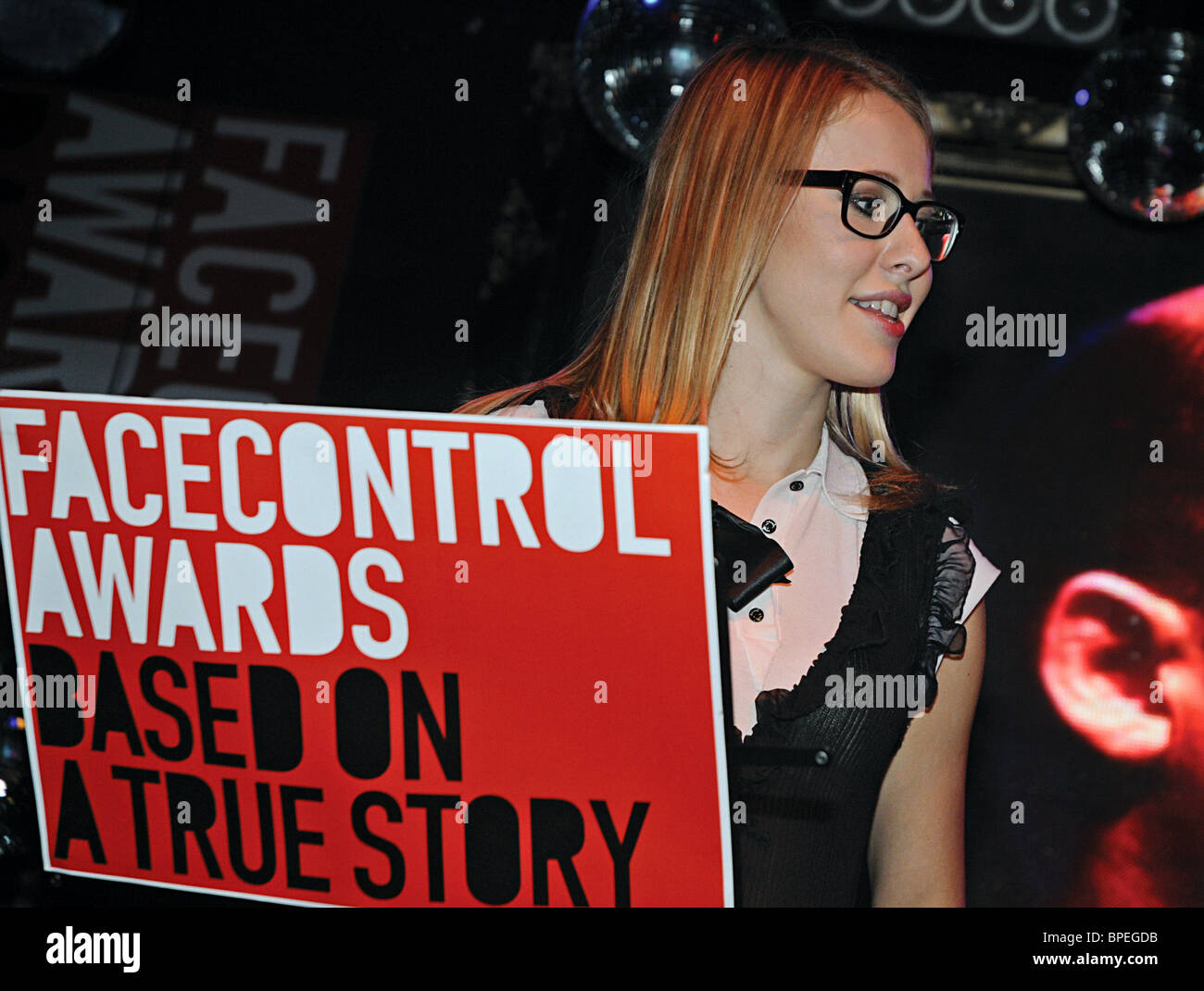 Facecontrol Awards presented to celeb photographers in Moscow - Stock Image