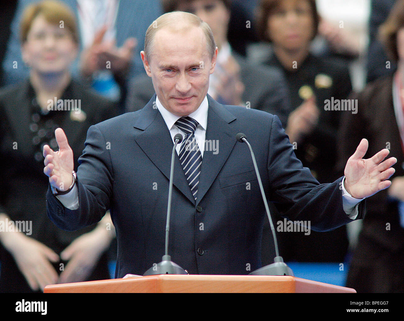 Vladimir Putin elected for United Russia Party chairman - Stock Image