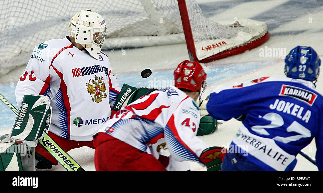 Euro Hockey Tour - Ceska Pojistovna Cup: Russia 4 - 1 Finland Stock Photo