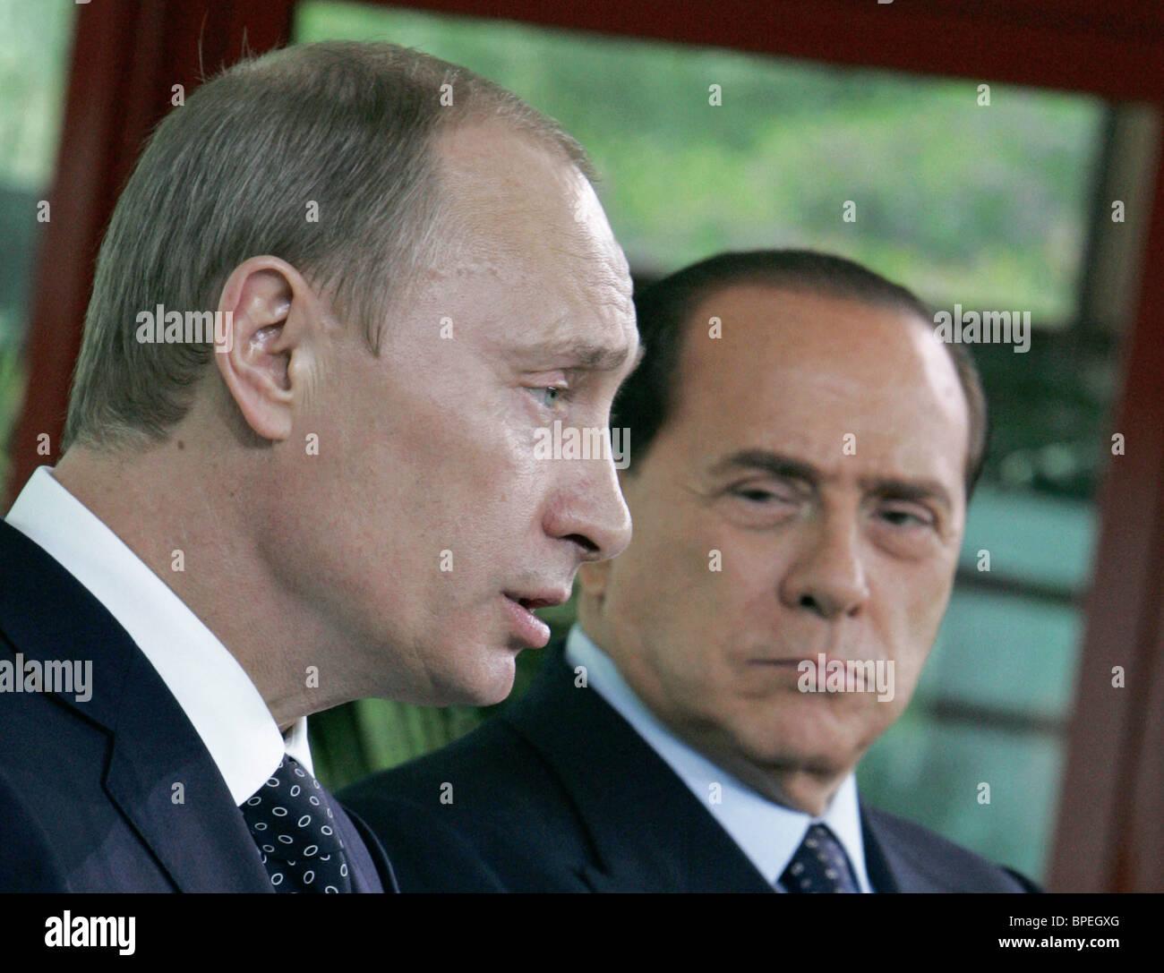 President Putin visits Italy - Stock Image