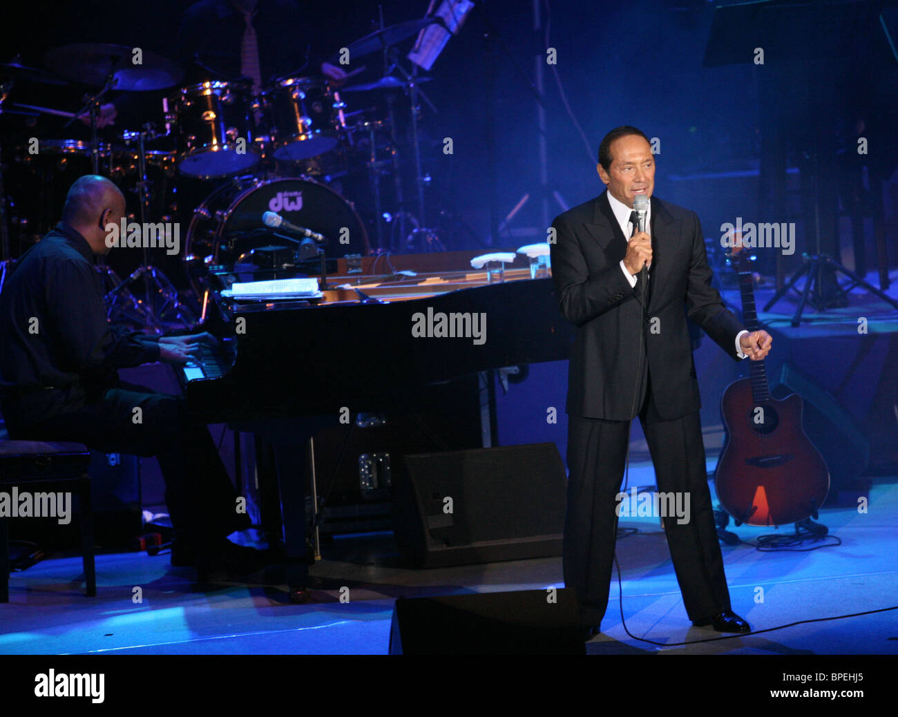 Ottawa-born singer Paul Anka performs in Moscow - Stock Image