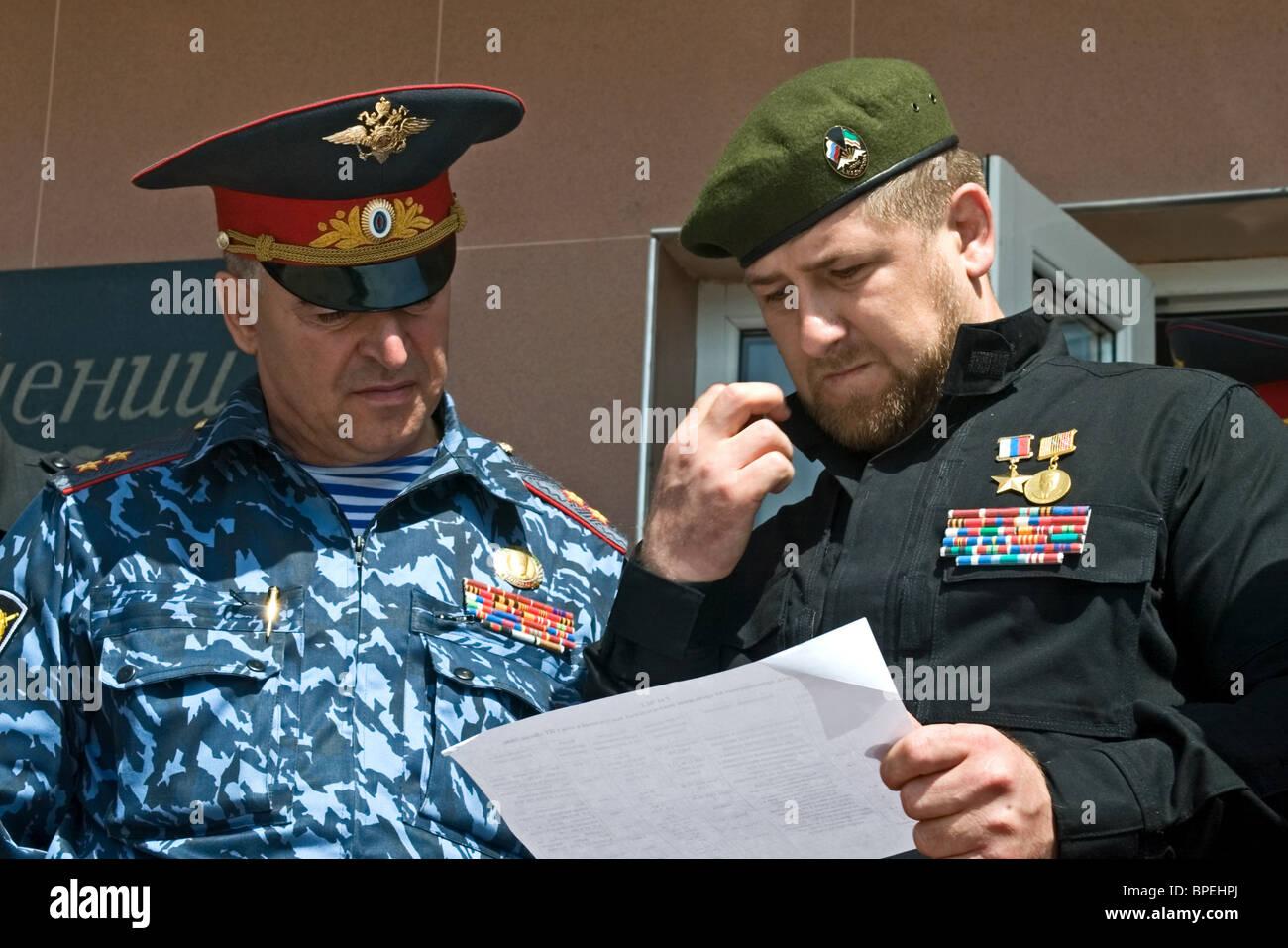 Chechen president Ramzan Kadyrov Stock Photo