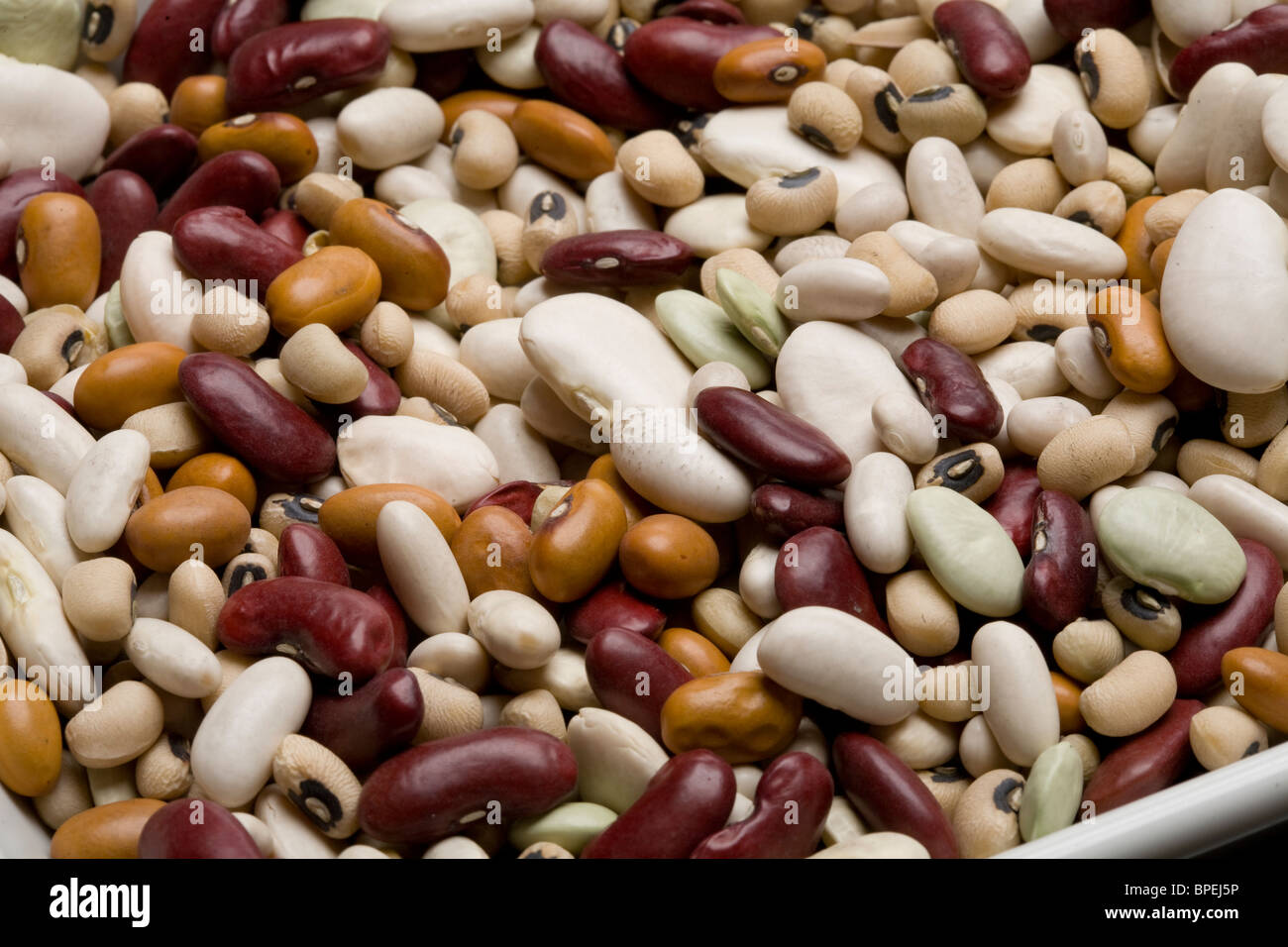 Black Eyed Beans Alubia Beans Red Kidney Beans Dutch Brown Beans Baby Stock Photo Alamy