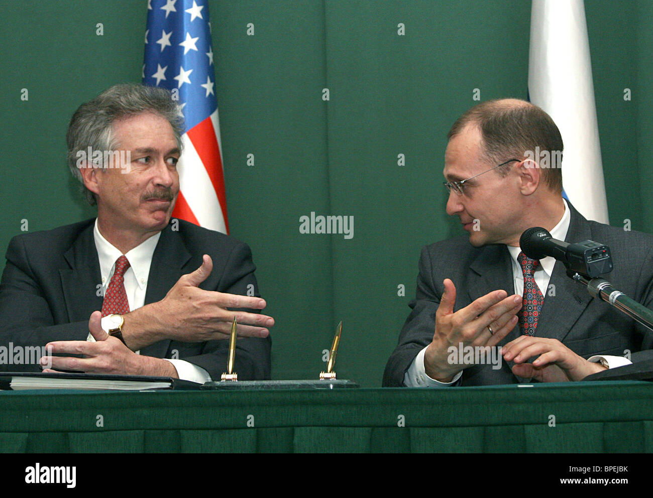 Russia and U.S. sign civilian nuclear deal - Stock Image