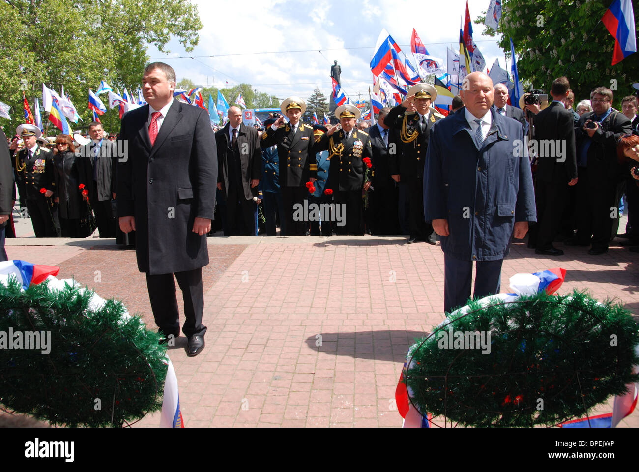 Festivities marking 225th anniversary of Russian Black Sea Fleet - Stock Image