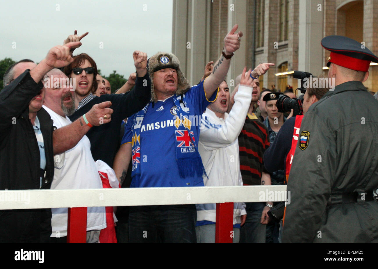British fans touring Moscow - Stock Image