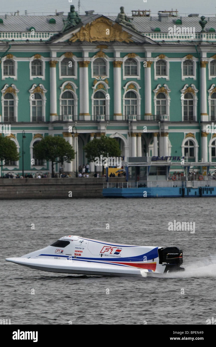 St Petersburg hosts U.I.M. F1 world powerboat event - Stock Image