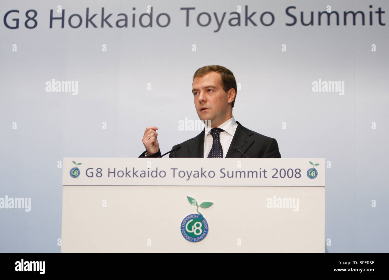 Leaders begin final day of summit in Japan - Stock Image