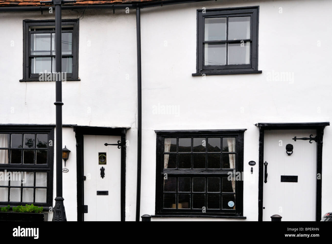 White walls and black window frames on Fishpool Street, St Albans ...