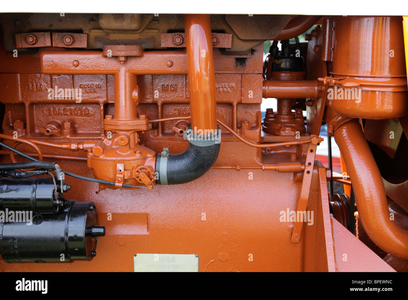 tractor engine detail - Stock Image