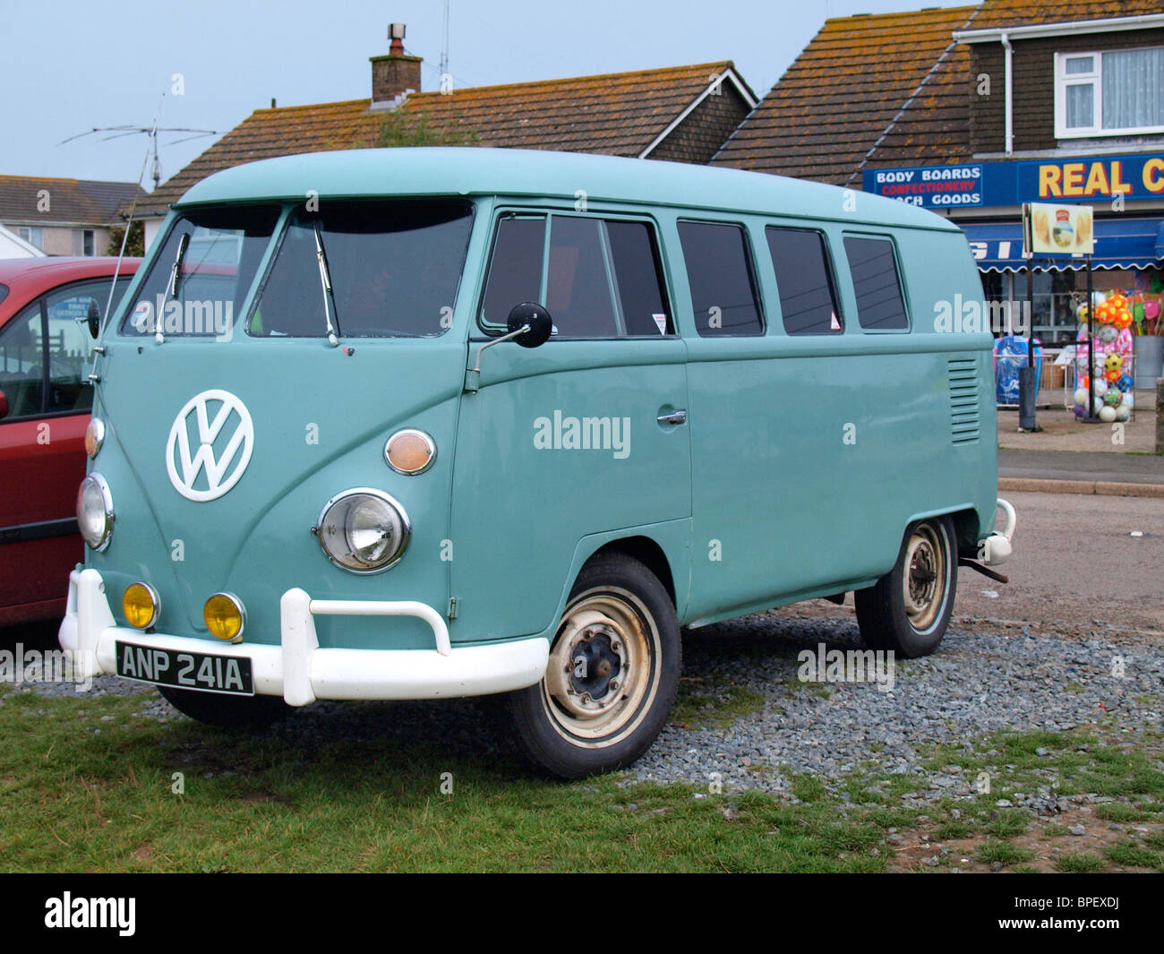 VW Van, Cornwall, UK - Stock Image