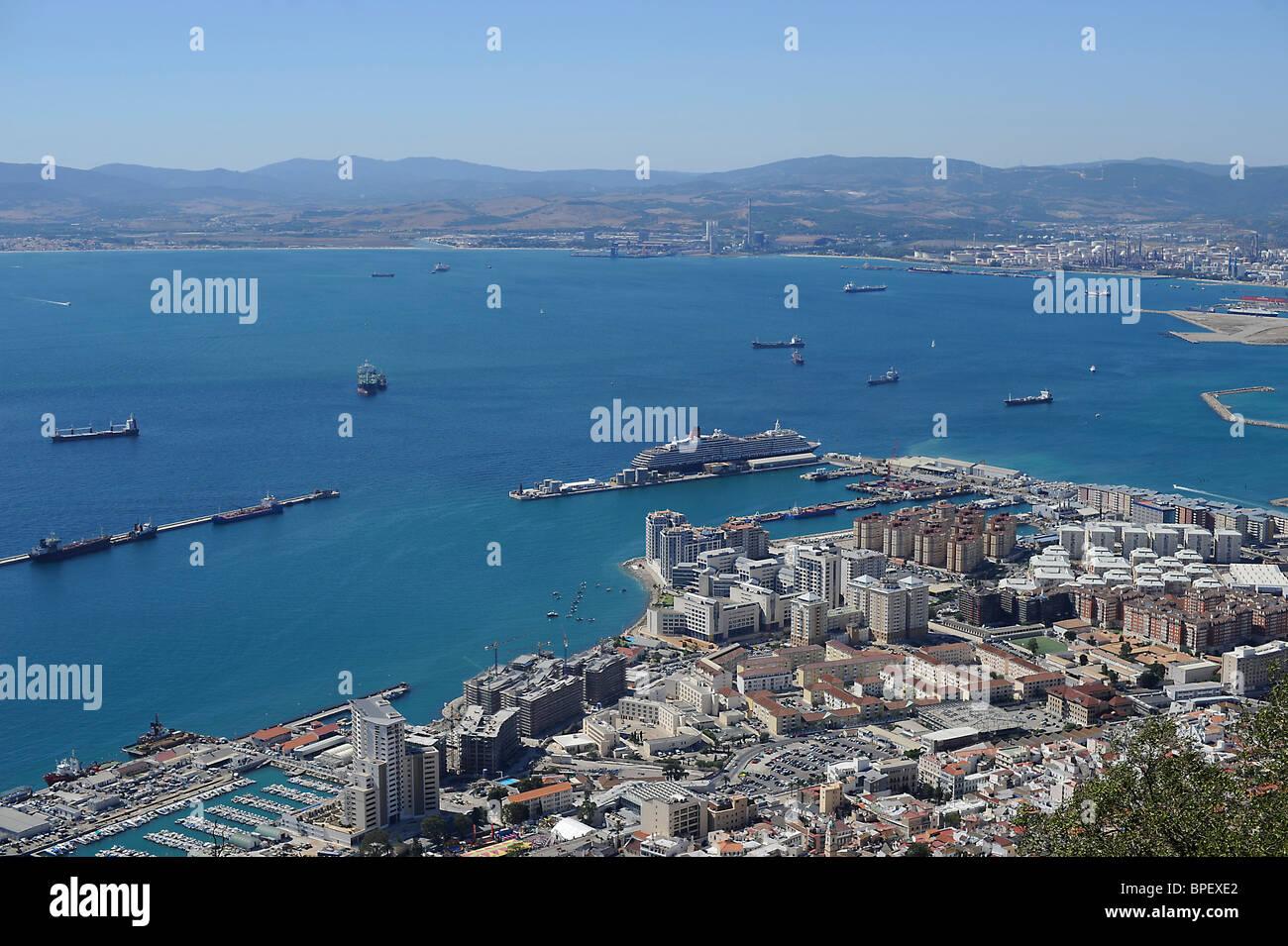 Hafen von Gibraltar, Habour of Gibraltar, Habor of Gibraltar Stock Photo