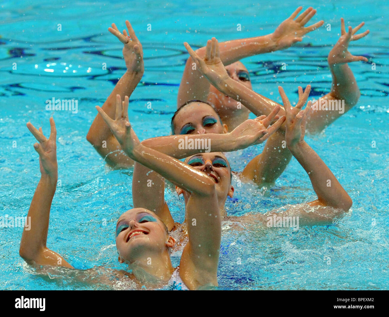 Beijing Olympic Games: synchronized swimming - Stock Image