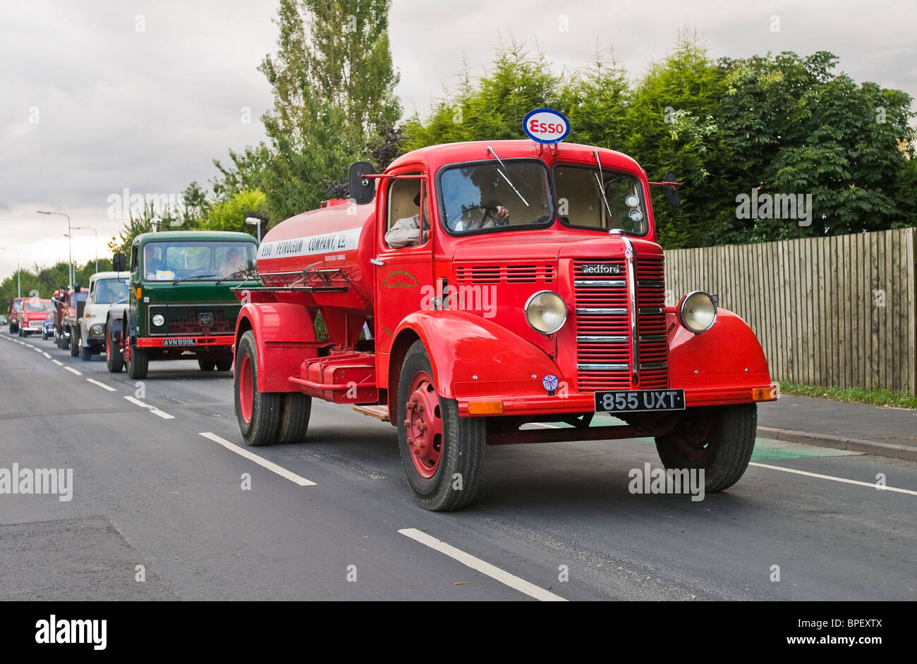 A vintage lorry parades through the streets of Driffield during the 2009 vintage steam rally - Stock Image