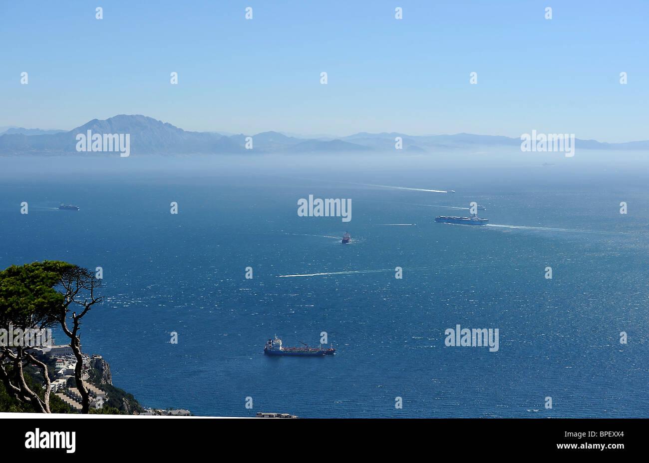 Marocco, Marokko, Afrika, Africa, Gibraltar, Meer Europa Europe  Straße von Gibraltar Strait of Gibraltar - Stock Image
