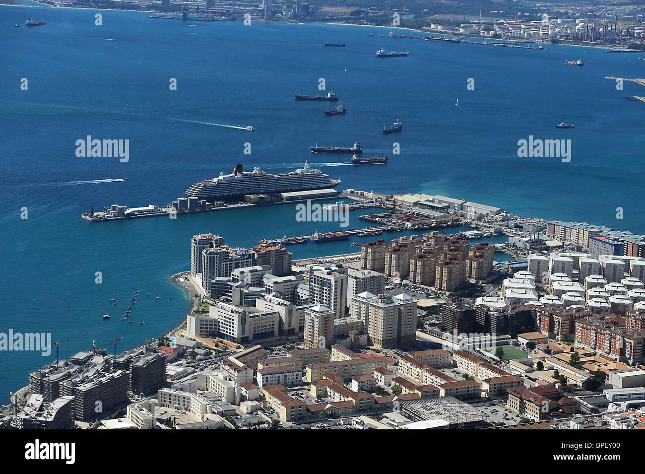 Hafen von Gibraltar, Habour of Gibraltar, Habor of Gibraltar - Stock Image
